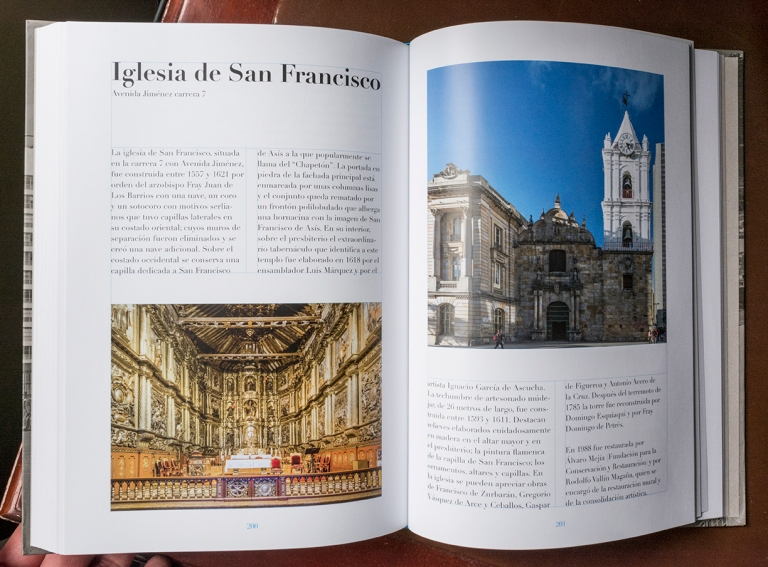 """Doble página del libro """"El río que corre"""" dedicada a la Iglesia San Francisco"""